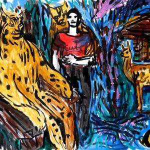 Franziska Guettler_CUTE | 64 × 90 cm, Tusche auf Papier, 2017