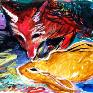 Franziska Guettler_kiss or kill | 64 × 90 cm, Tusche/Papier, 2016