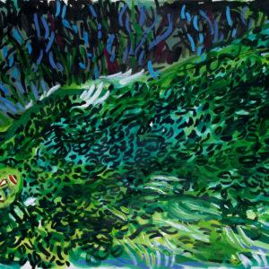 Laub | 64×90 cm, Tusche auf Papier, 2016