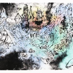 Franziska Guettler STROPHE | 60 × 75 cm, Lithographie, handkoloriert, 2017