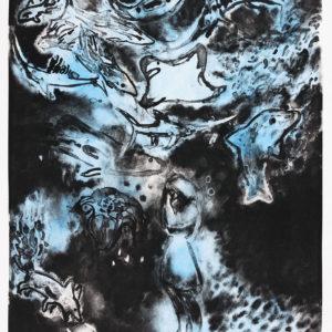 Franziska Guettler GROSSES WASSER | 47 × 37 cm, Lithographie, handkoloriert, 2017