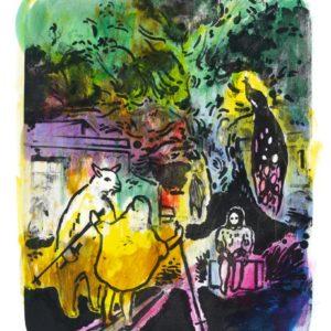 AUSKUNFT II | 33 × 26,5 cm, Lithographie / Tusche, 2014