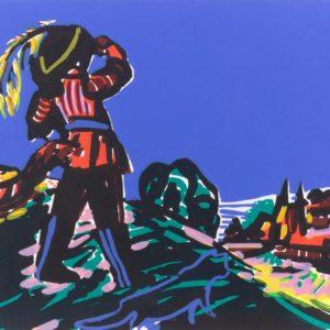 Franziska Guettler_Bald meins 30 × 40 cm, Siebdruck, 2008