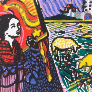 Franziska Guettler_Banner_30 × 40 cm, Siebdruck, 2008