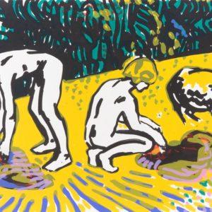 DIE BADENDEN | Siebdruck, 30 × 40 cm, 2008
