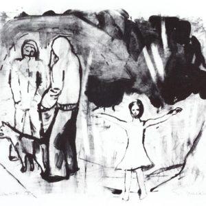 Franziska Guettler_DIE UNBETEILIGTEN | Lithographie, 2008
