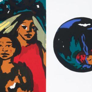 Ende | Seite aus: Fundevogel. Märchen der Gebrüder Grimm. Siebdruck, 8farbig. 40 × 30 cm. 2004
