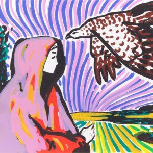 Franziska Guettler_Flieg nur rosa_30 × 40 cm, Siebdruck, 2008