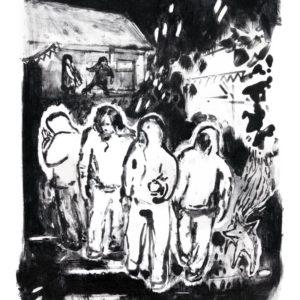 Franziska Guettler_GEBRÜDER NOR | 40 × 30 cm, Lithographie, 2014