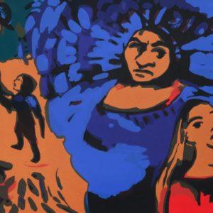 Geheimnis | Seite aus: Fundevogel. Märchen der Gebrüder Grimm. Siebdruck, 8farbig. 40 × 30 cm. 2004