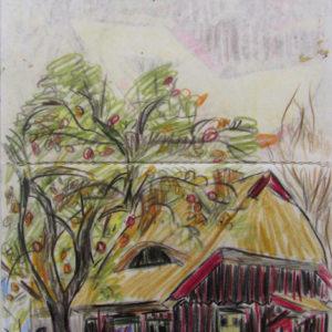 Franziska Guettler_Apfelbaumhaus_Zeichnung_2012