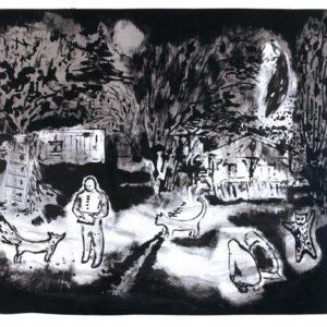 Franziska Guettler_Im anderen Garten 48 × 59 cm, Farblithographie, 2014
