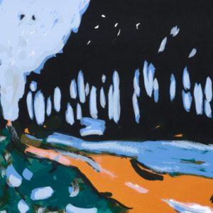 Jäger | Seite aus: Fundevogel. Märchen der Gebrüder Grimm. Siebdruck, 8farbig. 40 × 30 cm. 2004