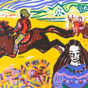 Franziska Guettler_Reiter_30 × 40 cm, Siebdruck, 2008