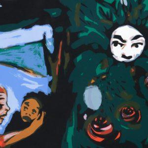 Rose | Seite aus: Fundevogel. Märchen der Gebrüder Grimm. Siebdruck, 8farbig. 40 × 30 cm. 2004