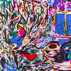ZWEI RÄUME | 60 × 84 cm, Siebdruck, 2015