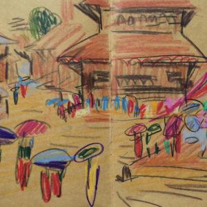 Franziska Guettler_kathmandula4_Zeichnung_2012