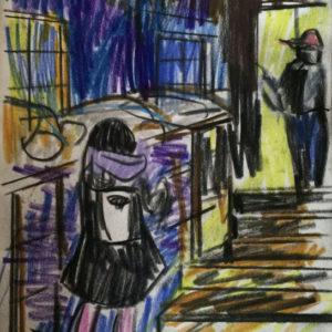 Franziska Guettler_nachtaus_Zeichnung_2016