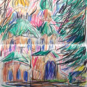 BALTI2 | Farbstiftzeichnung, 2017