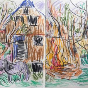 PONY2 | Farbstiftzeichnung, 2017