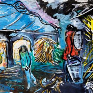 Franziska Guettler_SAPHIRE | 90×64 cm, Tusche auf Papier, 2017