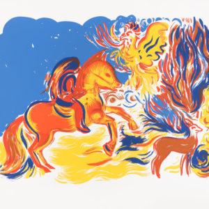 Franziska Guettler_GOLD | Siebdruck, 70 x 100 cm, 2018